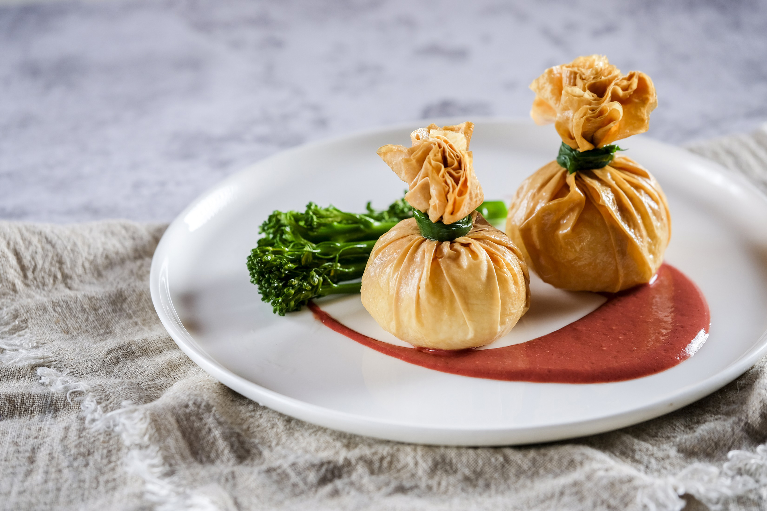 Mushroom Dumpling with Fermented Bean Curd Sauce